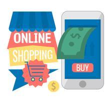 E-handel vektor