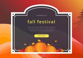 Fall Festival Färgglada Border Template