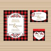 Vacker Bridal Shower Invitation Mall med Bufallo Plaid Theme vektor