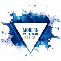 Modern blå akvarell bakgrund vektor