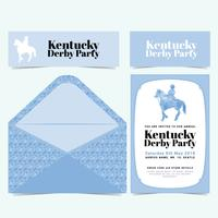 Vektor Kentucky Derby Party Einladung