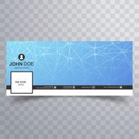 Modernes Facebook Timeline Banner Technologie Design vektor