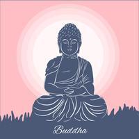 platt buddha karaktär vektor