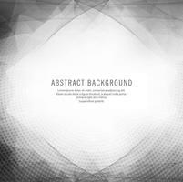 Abstrakt grå geometrisk våg bakgrund vektor
