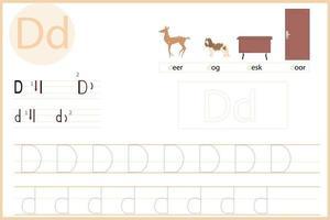 lass den Buchstaben d lernen vektor