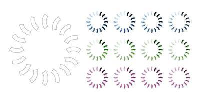 Legen Sie Ladesymbole und Fortschrittsbalken für den Upload-Download-Rundenprozess fest vektor