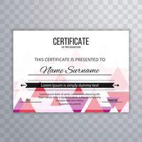 Bunter Schablonenhintergrund des modernen Zertifikats
