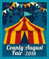 county fair flyer vektor