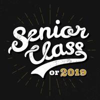Senior klass typografi vektor