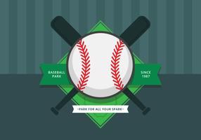 Baseball Park Logo und Symbol. Baseballpark. vektor