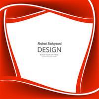 Abstrakter glänzender roter stilvoller Wellenhintergrund