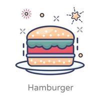 Hamburger-Fast-Food-Konzept vektor