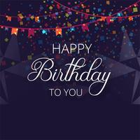 Grattis på födelsedagen färgglatt födelsedagskort, partyinbjudan backgrou