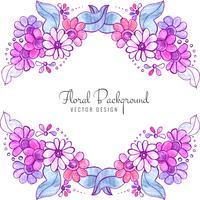 Bunter Blumenhintergrund der schönen dekorativen Hochzeit vektor