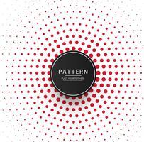 Abstrakter roter Punktmusterhintergrund vektor