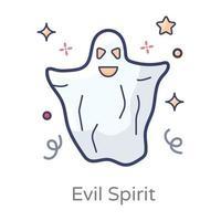 Geist und böser Geist vektor