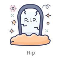 rip kyrkogård design vektor