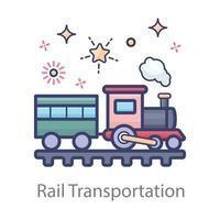 Bahntransportdesign vektor