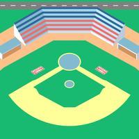 Einfacher Baseball-Park-Vektor