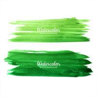 Vacker akvarellgrön handrit slagstilformad design