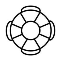 Symbol für den Stil der Rettungsschwimmerlinie vektor