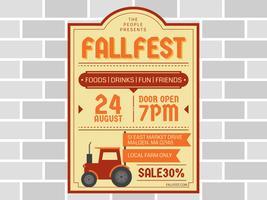 Funky Fall Festival vektorer