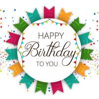 Sammanfattning Grattis på födelsedagen fest vektor bakgrund