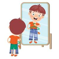 kleines Kind und bunte Kleidung vektor