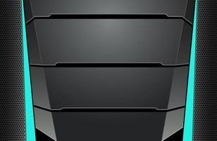 dunkle schwarze und blaue minimale Tech-Hintergrund abstrakte moderne Hintergrundtextur. Design-Tech-Innovationskonzept vektor