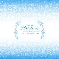Blauer Hintergrund der frohen Weihnachten Schneeflocken vektor