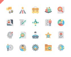 Einfacher Satz-Kopf, der flache Ikonen für Website und bewegliche Apps jagt. 48x48 Pixel Perfekt. Vektor-Illustration.