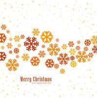 Schneeflocken-dekoratives fröhliches Weihnachten backgroun der eleganten bunten Schneeflocken vektor