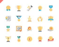 Simple Set Awards Flat Ikoner för Webbsida och Mobila Apps. 48x48 Pixel Perfect. Vektor illustration.