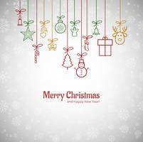 Vackert God julkort med snöflingor backgrou vektor