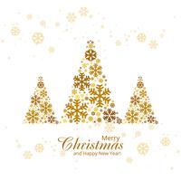Grußkarte der frohen Weihnachten mit dem Weihnachtsbaumhintergrundkranke vektor