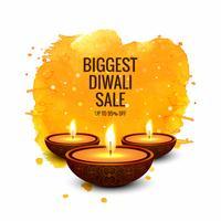 Banner-Designvektor Diwali-Superverkaufs bunter