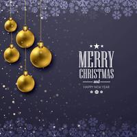 Jul glänsande boll dekorativa vektor bakgrund