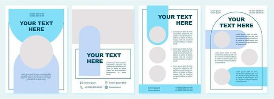 branding broschyr mall vektor