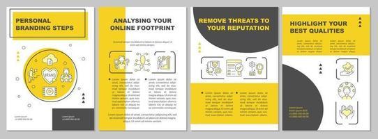 Broschürenvorlage mit Tipps für persönliche Branding-Strategien vektor