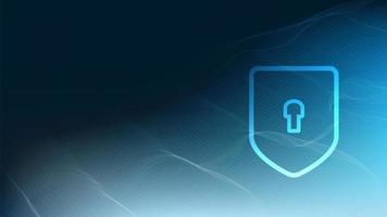 Vektortechnologie-Schild Sicherheitsschutz und sicheres Konzept auf Schaltkreis-Mikrochip-Hintergrund vektor