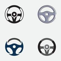 Auto-Lenkrad-Logo-Illustrationsvektor vektor