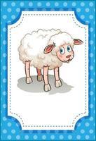 ein süßes Schaf im Cartoon-Stil isoliert vektor