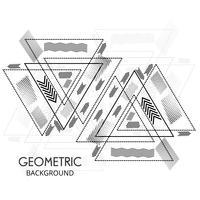 Abstrakte geometrische Dreieckform zeichnet Vektorillustration