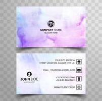 Abstrakt stilfull våg färgrik visitkort malldesign vektor