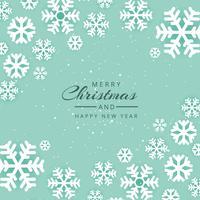 Schöner Schneeflocken-Vektorhintergrund der frohen Weihnachten des Festivals vektor