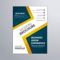 Buntes modernes Geschäftsbroschürenschablonen-Vektordesign vektor