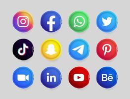 Social-Media-Button vektor