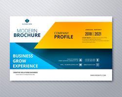 Modern företagsbroschyr mall professionell design illustrati vektor