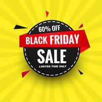 Schönes schwarzes Freitag-Verkaufsplakat-Fahnendesign