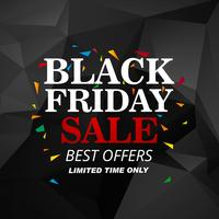 Schöner schwarzer Freitag-Verkaufsplakathintergrund
